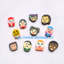 <b>50pcs DIY Jewelry Accessories</b> 13mm polymer clay beads Cartoon ...