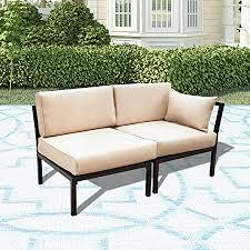 LOKATSE HOME 2 Piece Corner & Armless Sofa ... - Amazon.com