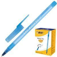 <b>Ручка шариковая</b> одноразовая <b>BIC Round</b> Stic синяя (толщина ...