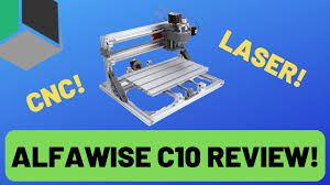 CNC and Laser Engrave with One Machine - <b>Alfawise C10</b> Review ...