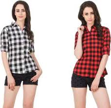 <b>Women's Shirts</b> - Buy <b>Shirts</b> For <b>Women</b> Online at Best Prices In ...