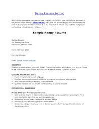example resume nanny position resume and cover letter examples example resume nanny position best nanny resume example livecareer nanny for resume job description of a
