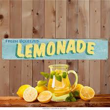 Lemon And Lime Kitchen Decor Fresh Squeezed Lemonade Large Metal Sign Vintage Kitchen Decor