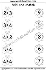 Kindergarten Addition Worksheets – Add and Match – Basic Addition ...kindergarten addition worksheet