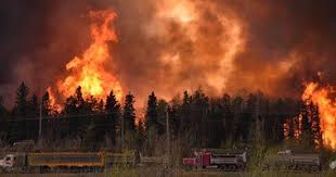 كندا - حريق الغابات في مقاطعة البرتا ينتشر مع ارتفاع درجات الحرارة ( صور )