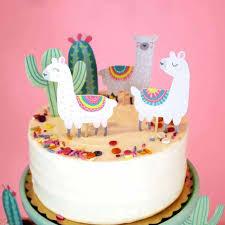 <b>Omilut</b> 5pcs Alpaca Cactus Cake Topper LLama <b>Party Decorations</b> ...