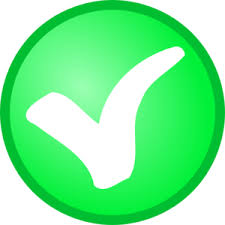 small green check mark clip art check small