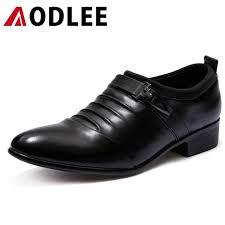 <b>AODLEE</b> Men Dress Leather Shoes Slip On <b>Plus Size</b> 38 <b>48</b> ...