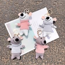 llaveros <b>Kawaii</b> keychain <b>Cute</b> Soft Plush <b>Cartoon Animal</b> Small ...