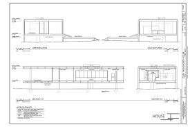 Farnsworth house  Elevation plan and Drawings of on Pinterest