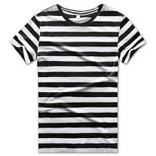 Black and White Striped T Shirts Women Tees for Round Neck ...