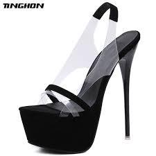 <b>TINGHON Fashion NEW 16</b> CM Platform High Heels Sandals ...