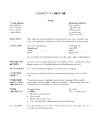 layout of a resume resume format  layout