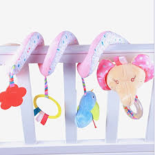 <b>Baby Infant</b> Kid Early Learn <b>Plush Animal Stroller</b> Hanging Bell Play ...