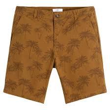 """<b>Бермуды</b> чинос с принтом """"пальмы"""" желто-каштановый <b>La</b> ..."""