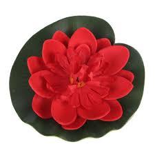 ENJOY <b>5Pcs</b> Home Foam Artificial Flower Lotus Flowers Water Lily ...