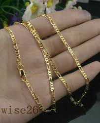 2MM 18k Yellow Gold Filled Twist Link Chain <b>Necklace</b> Wedding ...