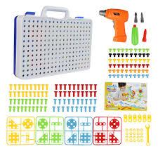 Topacc 240Pcs Children Fun Electric <b>Drill Puzzle Toys</b> Disassemble ...