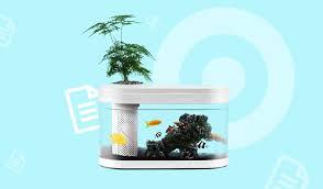 <b>Аквариум Mi Geometry</b> Lazy Fish Tank: домашний антистресс