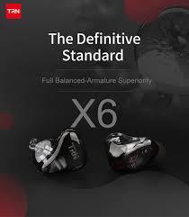 Newest <b>TRN X6 6BA</b> Driver Unit In Ear <b>Earphone</b> 6 Balanced ...