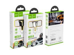 Автомобильное <b>зарядное устройство HOCO Z31</b> Double QC3.0 ...