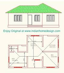 Free House Plans In India   Homemini s comLow Cost Bedroom Indian Home Plan