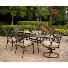 depot patio furniture outdoor aluminium table