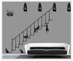 huge kitten playing on the stairs wall stickers living room entrance casual restaurantcreative self adhesive casual living room lots