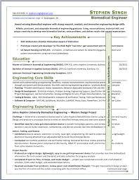 resume samples   radiant resume career servicesbiomedical engineer  new college graduate resume sample