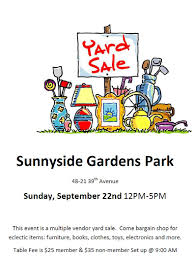 sunnyside gardens park yard registration