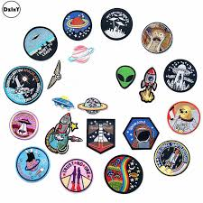 (30 Styles) 1 PCS <b>Alien UFO</b> Embroidery <b>Patches for Clothing</b> DIY ...