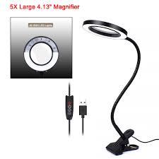 NEWACALOX 3X/<b>5X</b> USB LED <b>Magnifier</b> Flexible Table <b>Clamp</b> ...