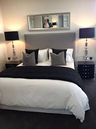 black bed with white furniture. bedroom chic dcor black white and gray bed with furniture b
