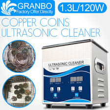 Granbo Ultrasonic Coin Cleaner 1.3L 120W Cleaning Machine for ...