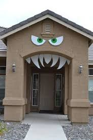 ideas outdoor halloween pinterest decorations: nifty thrifty amp thriving outdoor halloween decorations maybe this would work for the garage