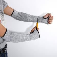 1Pair <b>Safety</b> Arm Guard Bracers Protector HPPE Nylon <b>Cut Proof</b> ...