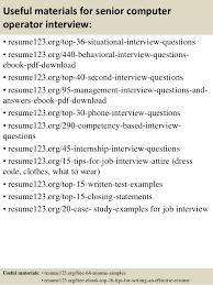 top  senior computer operator resume samples       useful materials for senior computer operator
