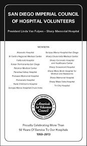 california hospital volunteer leadership conference san diego imperial council of hospital volunteers