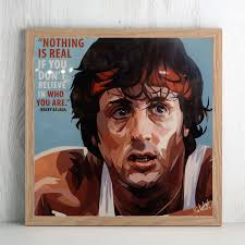 2019 Sylvester Stallone In <b>Rocky Balboa</b> Canvas Art Oil <b>Printing</b> ...