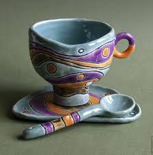 """<b>Чайная</b> пара с ложечкой """"Жадеит"""" – заказать на Ярмарке ..."""