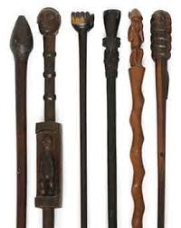 SIX <b>AFRICAN</b> TRIBAL HARD-WOOD WALKING STICKS | <b>Трость</b>