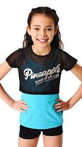 PINEAPPLE DANCEWEAR <b>GIRLS Double</b> Layer Tee Black <b>Mesh</b> ...