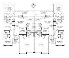 images about Multi Family House Plans on Pinterest   Duplex    Davis Rustic Multi Family Home Plan D    House Plans and More