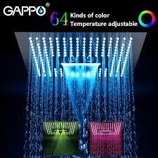 <b>GAPPO shower head Water</b> Powered Led rainfall 400mm*400mm ...