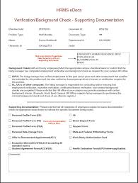 document cover sheet info hire employee e doc sos