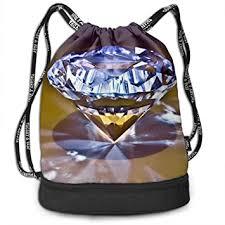 Gymsack Jewelry <b>Diamond Print</b> Drawstring Bags - <b>Simple</b> Hiking ...