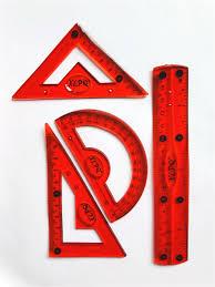 <b>Набор</b> геометрический, силиконовый: <b>линейка</b> 15 см, 2 угольника ...