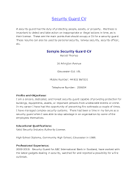 security guard resume sample berathen com security guard resume sample for a resume sample of your resume 13