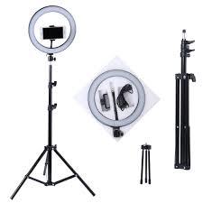 Photography <b>LED</b> Selfie Ring Light <b>10inch Metal</b> Dimmable Camera ...
