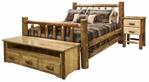 rustic bedroom furniture log beds and hickory beds black forest daccor brilliant log wood bedroom